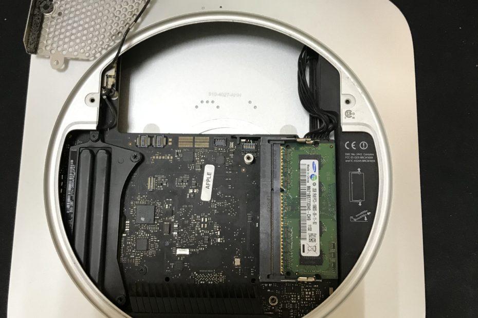 Установка SSD диска в mac mini